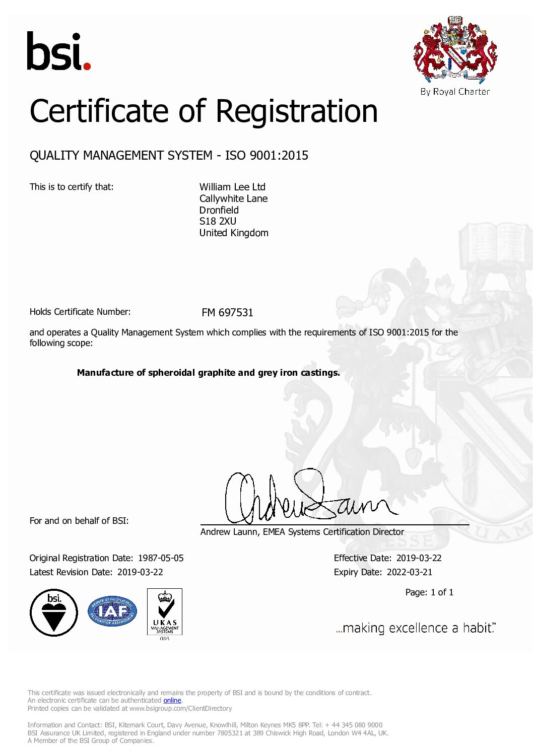 ISO9001 WMLee Mar 2019-Mar 2022 FM 697531